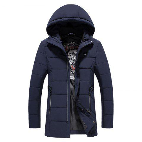 New 2018 Men's Fashion Trend Warm Long Cotton Coat