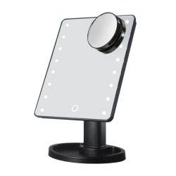LED Light Desktop Touch Screen Cosmetic Makeup Mirror with Magnifier -