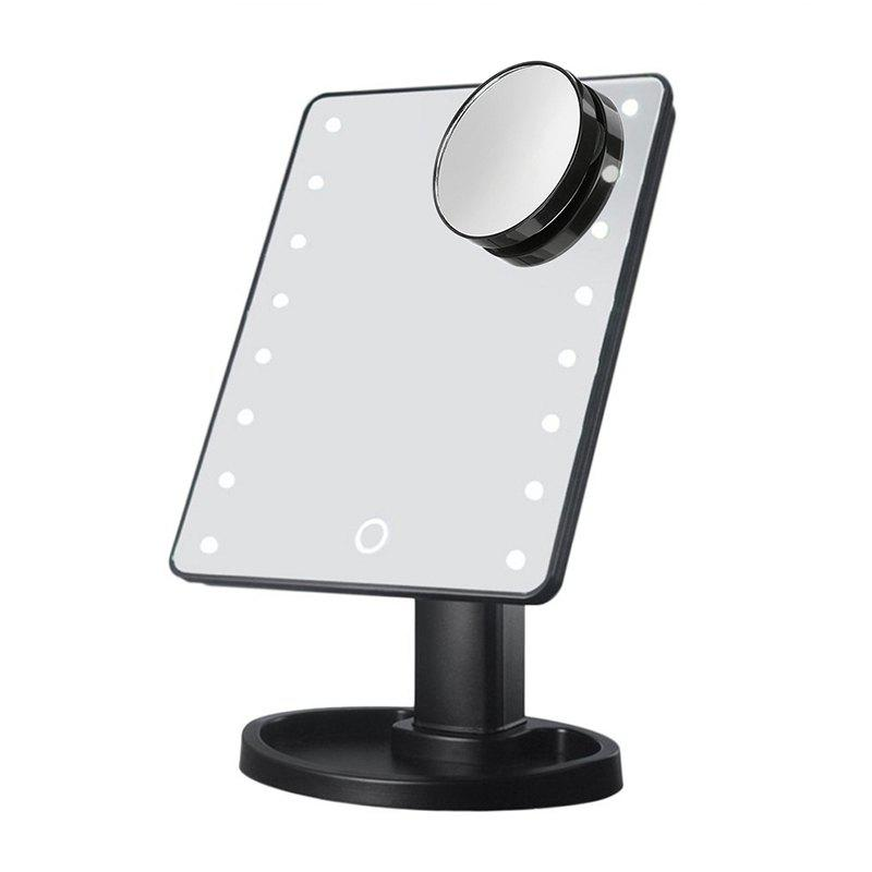 Affordable LED Light Desktop Touch Screen Cosmetic Makeup Mirror with Magnifier