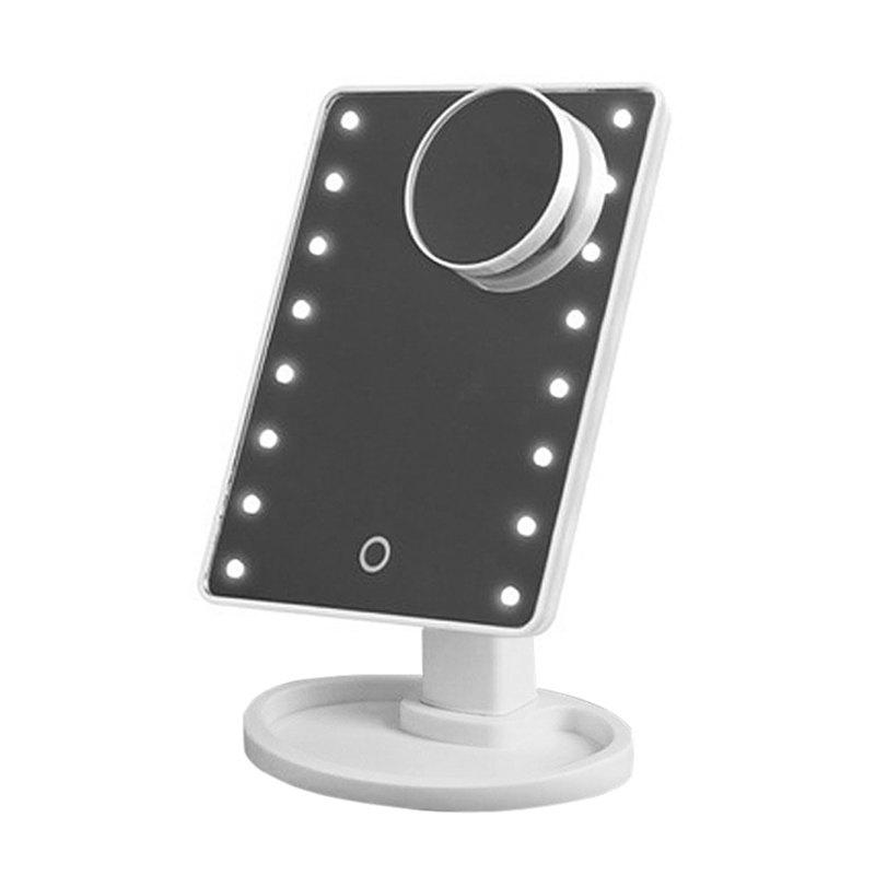 Store LED Light Desktop Touch Screen Cosmetic Makeup Mirror with Magnifier