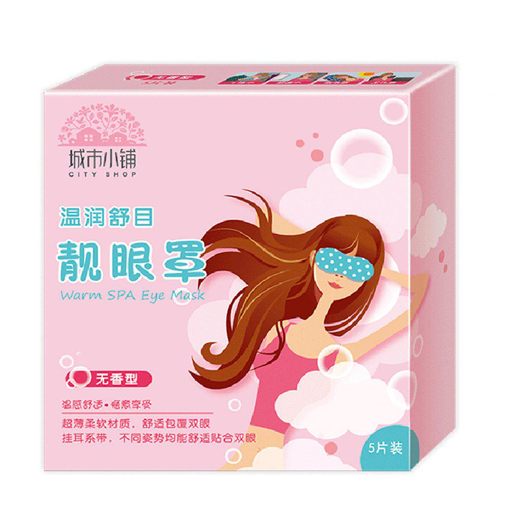 Best City Shop CS0481 Fragrance Free Steam Eye Mask 5 Pieces