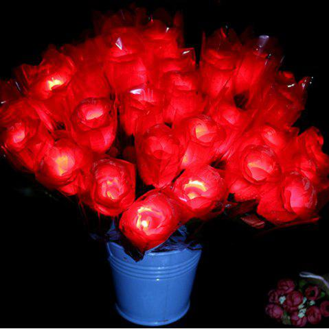 Fashion LED Flashing Rose Flower Wedding Anniversary Party Decorations Hair Glow Gift