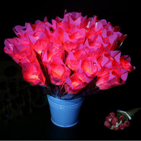 Outfits LED Flashing Rose Flower Wedding Anniversary Party Decorations Hair Glow Gift