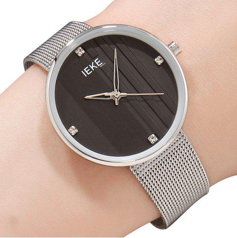 Discount IEKE 88010 The Vertical Grain with Diamond Ladies Female Fashion Brand Steel Quartz Watch
