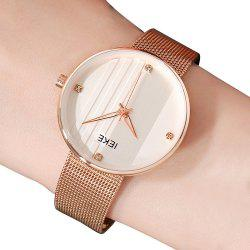 IEKE 88010 The Vertical Grain with Diamond Ladies Female Fashion Brand Steel Quartz Watch -