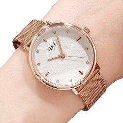 IEKE88002 Steel Strap Women Stylish Luxury Brand Diamond Strip Ladies Quartz Watch -
