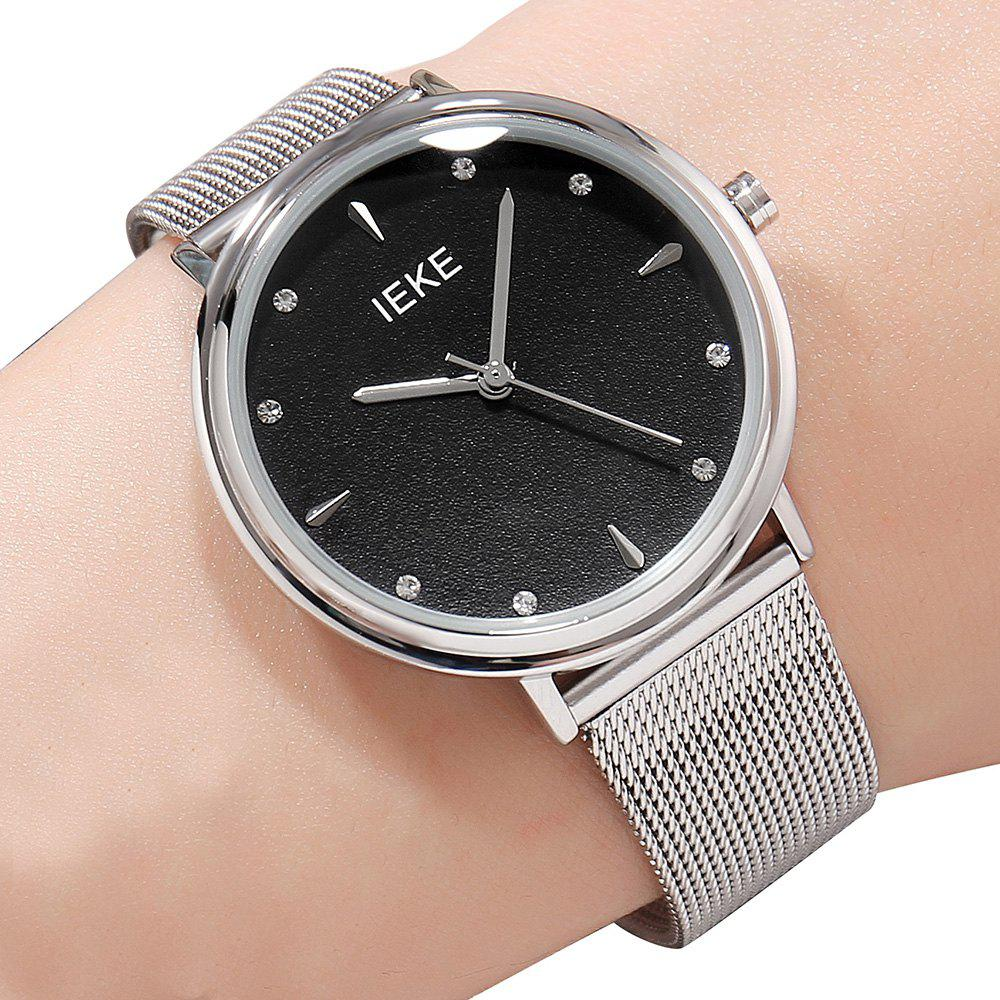 Latest IEKE88002 Steel Strap Women Stylish Luxury Brand Diamond Strip Ladies Quartz Watch