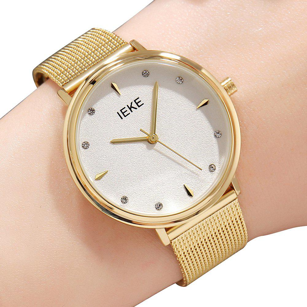 Outfits IEKE88002 Steel Strap Women Stylish Luxury Brand Diamond Strip Ladies Quartz Watch