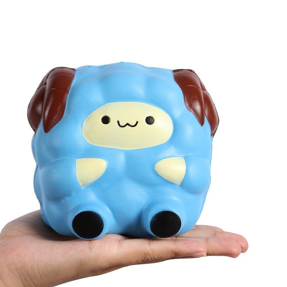 Trendy Squishies Kawaii Blue Lamb Cream Scented Slow Rising Decompression Squeeze Toys Children Simulation Cute Sheep Style