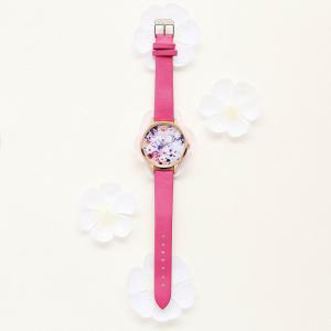 Lvpai P089-R Women Fashion Leather Band Flowers Dial Quartz Watches -