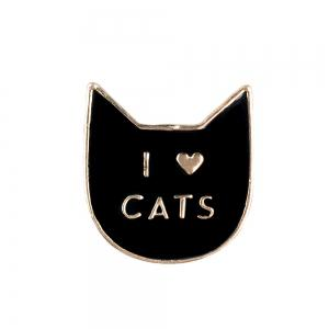 Cartoon Sunglasses Mustache  Cats  Nopal Set of Metal Brooches Button Pins Lapel Pins Pin Jewelry -
