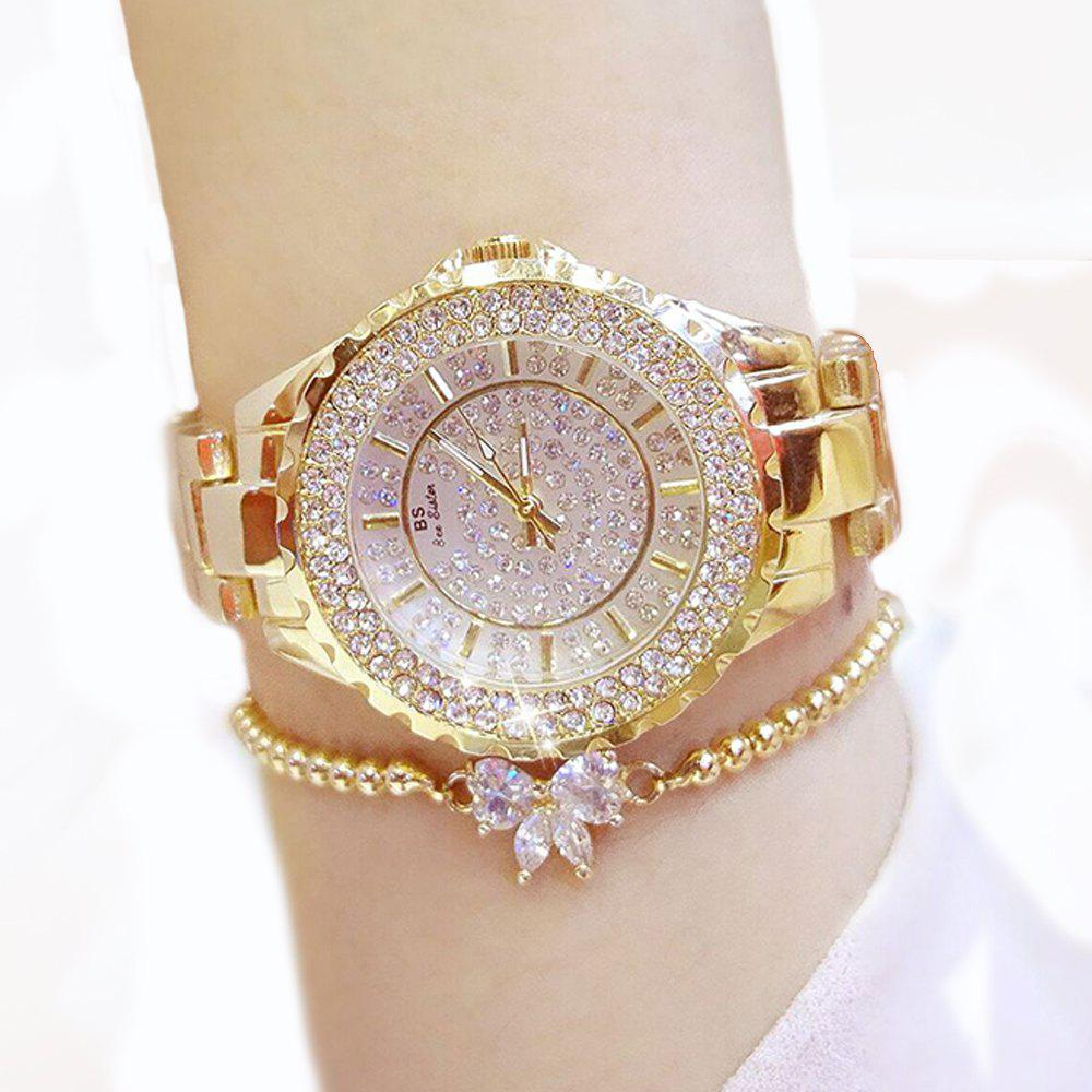 2019 women watches luxury brand new geneva ladies quartz rhinestone wrist clock female dress for Celebrity watches female 2018