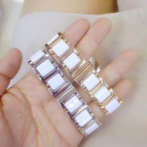 Luxury Women Top Famous BrandCasual Quartz WatchCeramic Stainless Steel Band Female Watch -