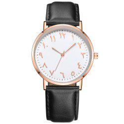 Fashion Arabic Numbers Luxury Ultrathin Women Quartz Watch -