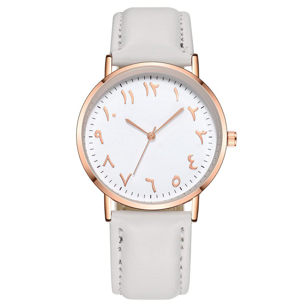 Fancy Fashion Arabic Numbers Luxury Ultrathin Women Quartz Watch