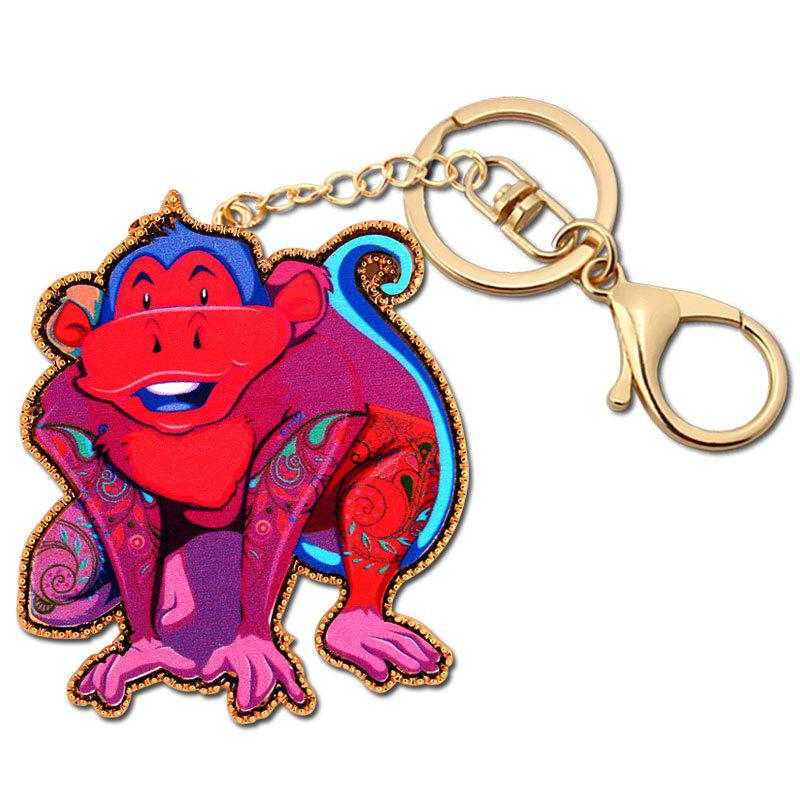 Best Acrylic Alloy Animal Monkey Key Chain Women'S Gift Girl Bag Charming Keychain Necklace Jewelry