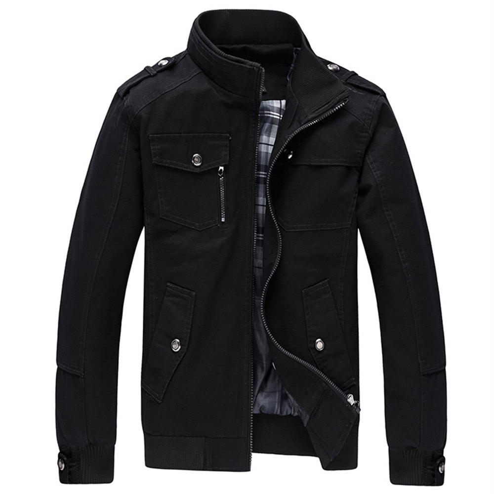 Trendy Cargo Jacket Man Casual Cotton Stand Collar Jackets