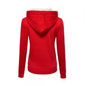 Plain Coloured Spliced Zip Long Sleeve Hooded Pocket Cardigan -