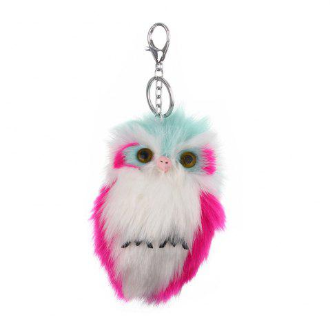 Soft Cute Handbag Car Keychain Owl Pendant Pompom Fluffy Bag Gift