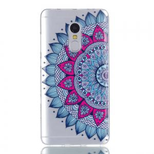 for Redmi Note 4 Mandala Painted Soft Clear TPU Phone Casing Mobile Smartphone Cover Shell Case -