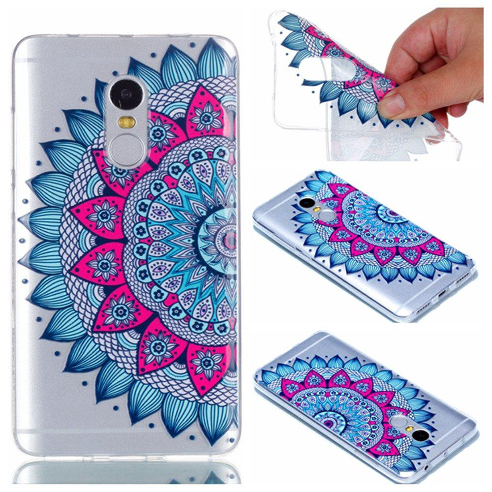Fancy for Redmi Note 4 Mandala Painted Soft Clear TPU Phone Casing Mobile Smartphone Cover Shell Case