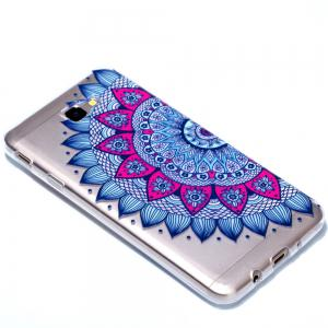 for Samsung J7 Prime Mandala Painted Soft Clear TPU Phone Casing Mobile Smartphone Cover Shell Case -