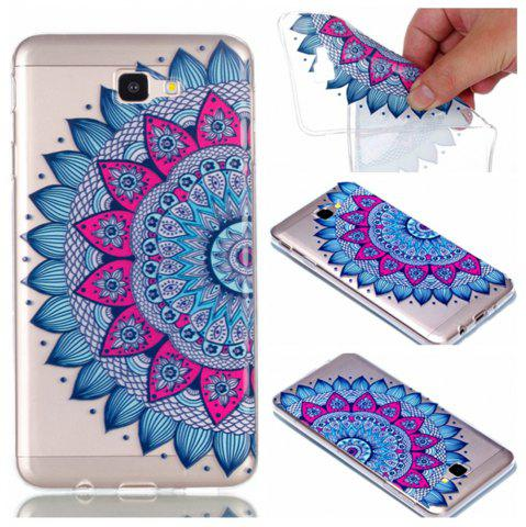 Fashion for Samsung J7 Prime Mandala Painted Soft Clear TPU Phone Casing Mobile Smartphone Cover Shell Case