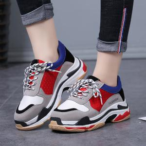 New Stitching Fashion Casual Ladies Sneakers -