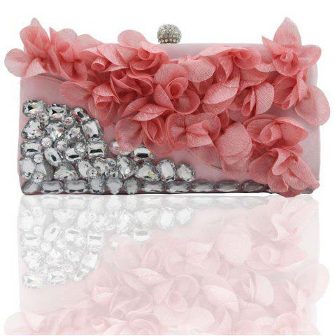 Outfits 2018 Direct Selling Top Women Floral Hasp Diamond Satin Flower Evening Clutch Bag