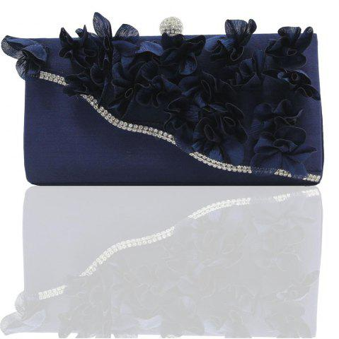 Store 2018 Direct Selling Top Women Floral Hasp Diamond Satin Flower Evening Clutch Bag