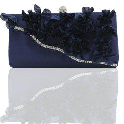 2018 Direct Selling Top Women Floral Hasp Diamond Satin Flower Evening Clutch Bag -