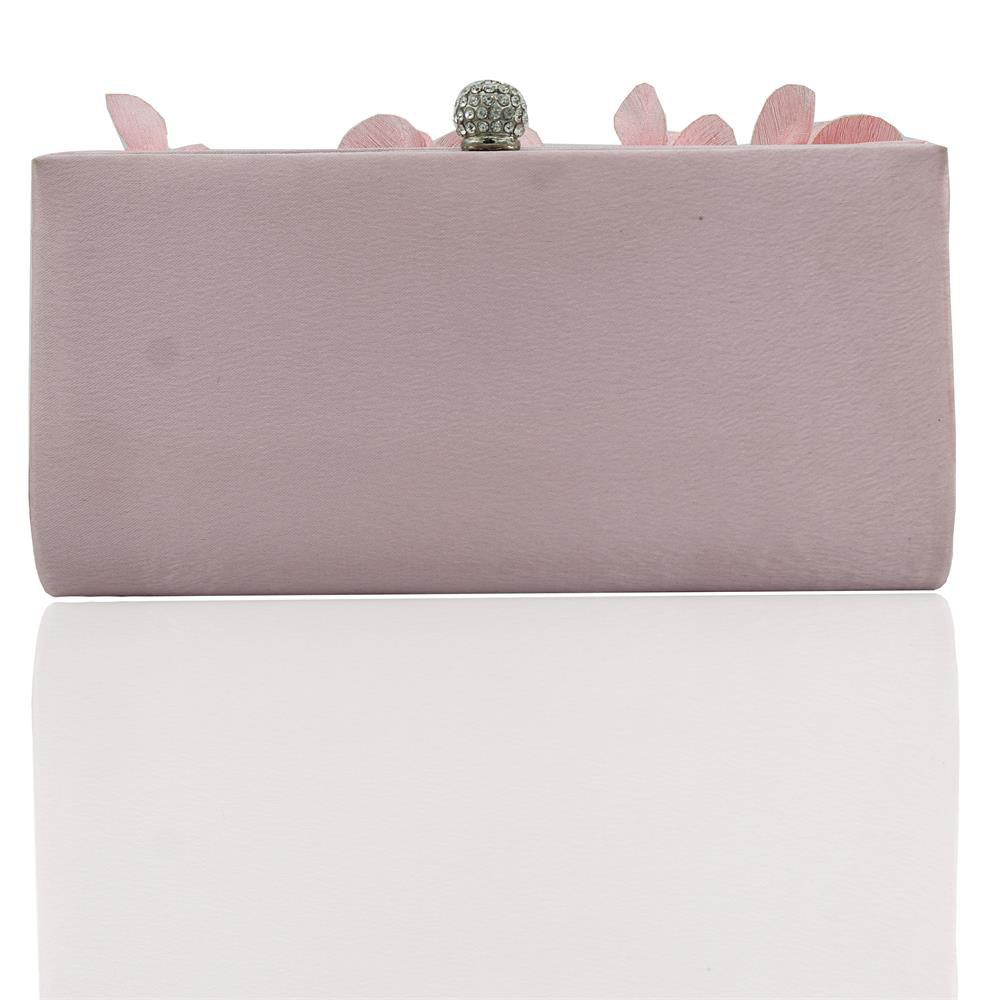 Outfit 2018 Direct Selling Top Women Floral Hasp Diamond Satin Flower Evening Clutch Bag
