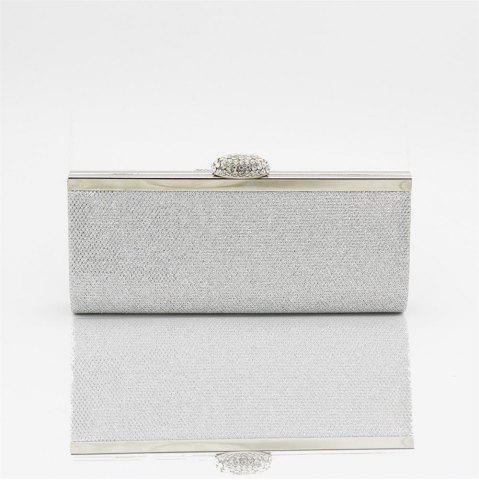 Chic Women Bags pu Evening Bag for Event Party Silver Golden