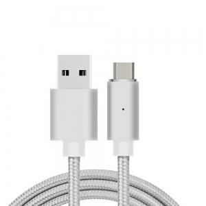 B6 Micro USB Android Mobile Phone Magnetically Charged Data Cable Dual Data 2.1A  Nylon weave -