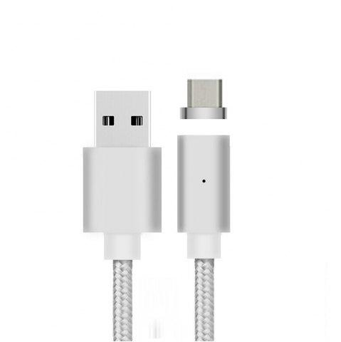 Discount B6 Micro USB Android Mobile Phone Magnetically Charged Data Cable Dual Data 2.1A  Nylon weave