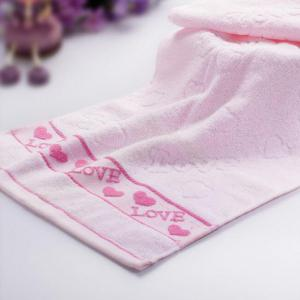 3 Pcs Home Washing Towels Set Modern Sweet Hearts Pattern Supple Face Towels -
