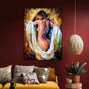Hand Painted Abstract Palette Knife Oil Pianting Sexy Nude Woman Wall Picture Room Wall Decoration No Framed -