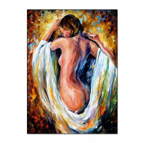 Affordable Hand Painted Abstract Palette Knife Oil Pianting Sexy Nude Woman Wall Picture Room Wall Decoration No Framed