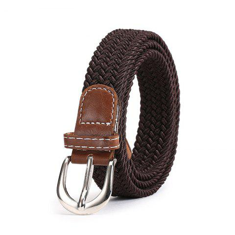 Best Fashion Korean Style Breathable Durable Weaving Elastic Waist Belt Alloy Buckle