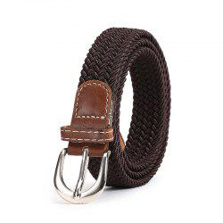 Fashion Korean Style Breathable Durable Weaving Elastic Waist Belt Alloy Buckle -