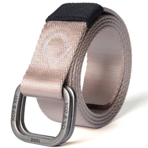 Outfits Quick Dry Double Ring Metal Buckle Wide Nylon Weaving Waist Belt for Male
