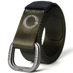 Quick Dry Double Ring Metal Buckle Wide Nylon Weaving Waist Belt for Male -