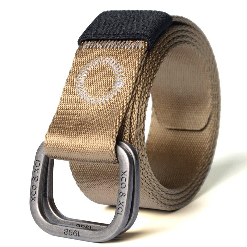 Buy Quick Dry Double Ring Metal Buckle Wide Nylon Weaving Waist Belt for Male