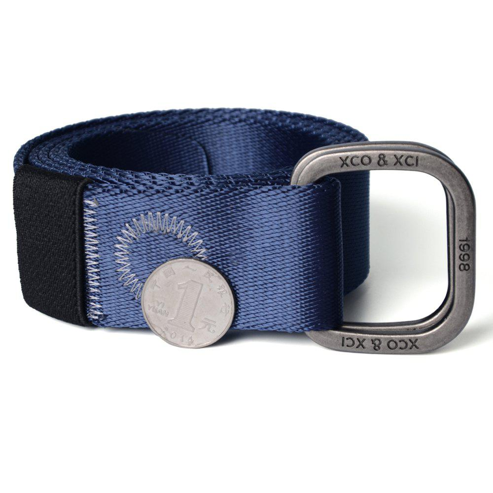 Cheap Quick Dry Double Ring Metal Buckle Wide Nylon Weaving Waist Belt for Male