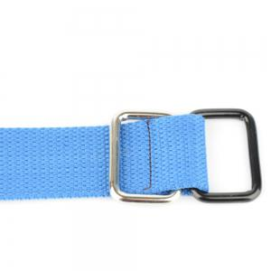 Fashion Design Double Ring Metal Buckle Weaving Breathable Waist Belt for Students -