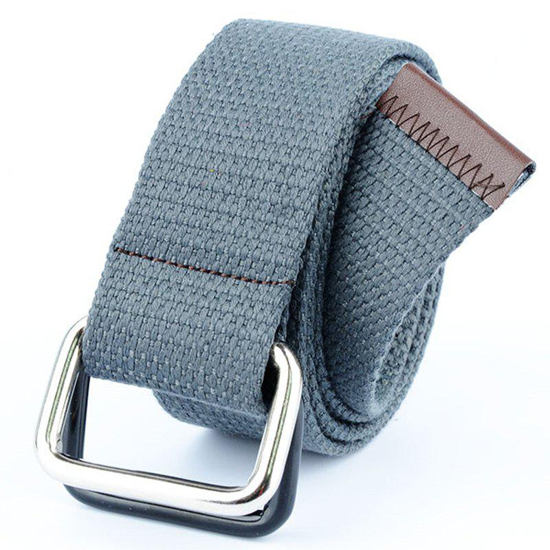 Shop Fashion Design Double Ring Metal Buckle Weaving Breathable Waist Belt for Students