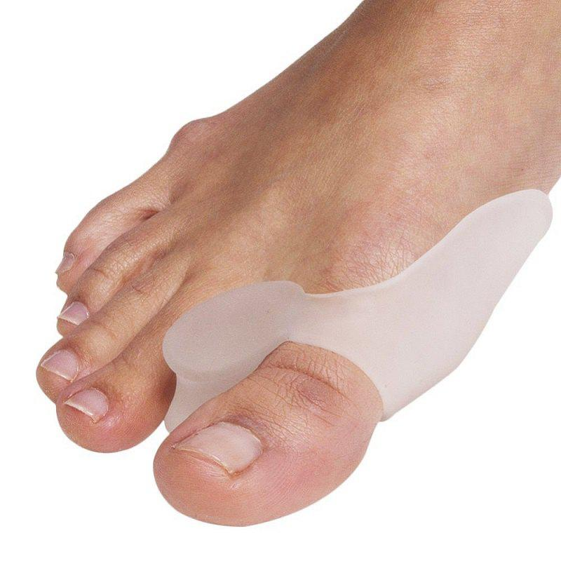 Outfit Silicone Gel Foot Fingers Two Toe Separator Thumb Valgus Protector Bunion Adjuster Guard Feet Care