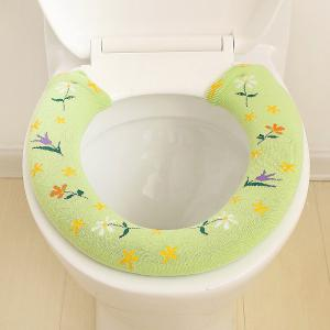 A Button Toilet Seat in Winter To Warm Universal Sitting Toilet Cover -