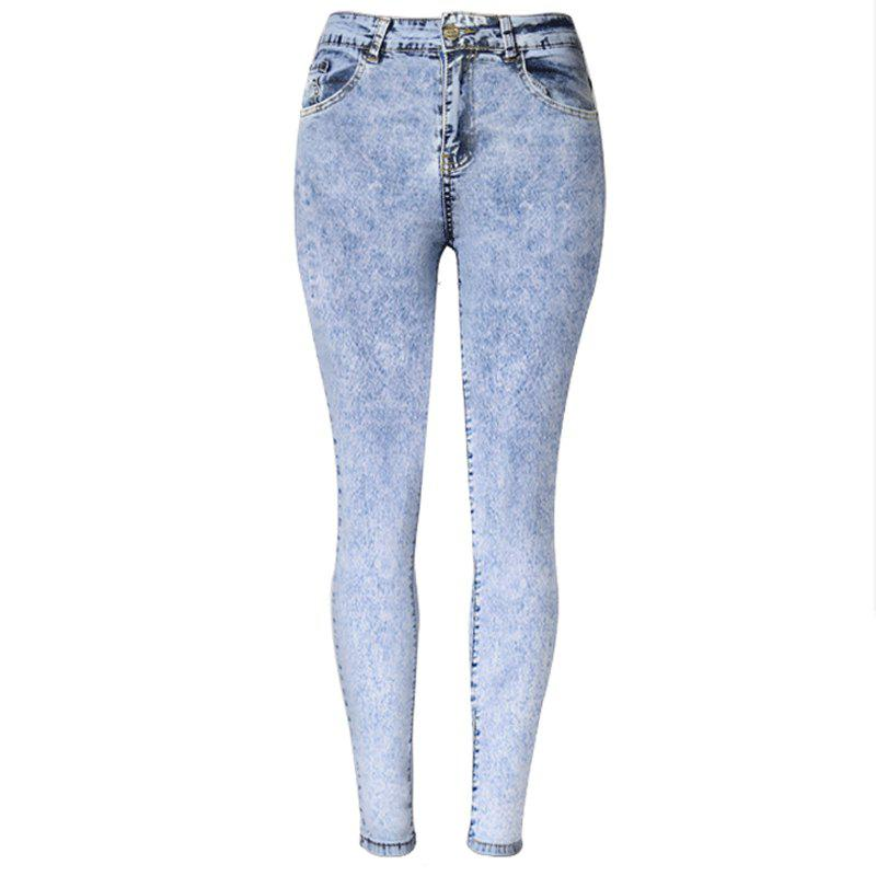 Outfit 2018 New High-Waisted Snowflake Trousers and Pencil Jeans