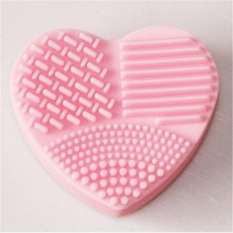 Store Heart Shaped Board Wash Silica Glove Scrubber up Cosmetic Tools for Makeup